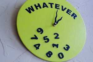 Whatever Clock Embodies a Lack of Interest in the Hour