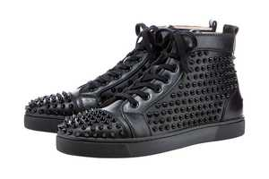 The Christian Louboutin Studded Hightop Sneaker Makes an Edgy Statement
