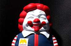 Obese Fast Food Clowns - Ron English MC SUPERSIZED Figure Smiles Terrifyingly