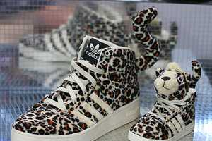 Rock the Jeremy Scott Leopard Sneakers for some Furry Fun
