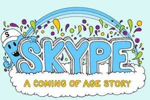 The 'Skype a Coming of Age Story' Infographic is Lighthearted & Info-Packed