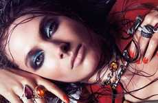 Accessory Drenched Dames - The Jessica Miller Vogue Spain Spread is Blinged-Out