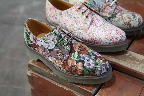 Lavish Summer Floral Shoes - Dr. Martens 2012 Men's Footwear Blossoms for the Season