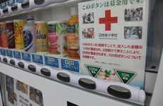 Virtuous Vending Tools - The Coca-Cola Japanese Red Cross Charity Soda Machines are Donation-Ready