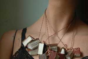 Wear Pieces from The Black Spot Books Etsy Shop For Some Charm
