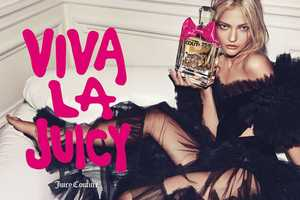 The Sasha Pivovarova Juicy Couture 'Viva La Juicy' Ads are Lip-Smackable