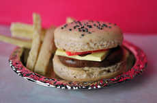 Tasty Take-Out Confections - The Burger and Fries Macaroon Recipe is Topped With Everything Sweet