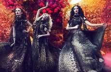 Fiery Fate Photography - The Roberto Cavalli AW12 Ad Campaign is Haunting and Bewitching