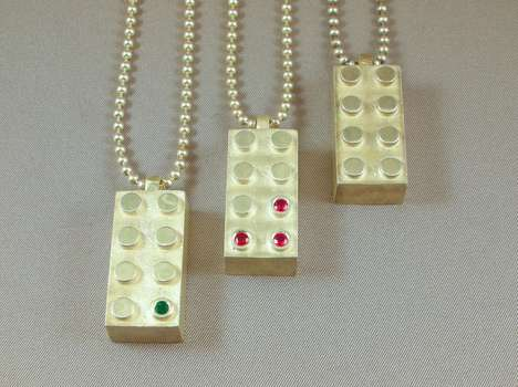 Glimmering LEGO Accessories - Max Steiner Design Transforms Bricked Toys into Fashionable Items