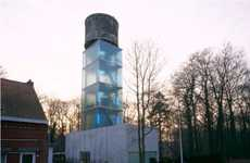 Domestic Water Towers - Jo Crepain Architect Transforms a Belgian Water Tower into a Modern Loft