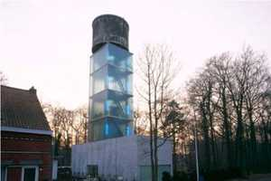 Jo Crepain Architect Transforms a Belgian Water Tower into a Modern Loft
