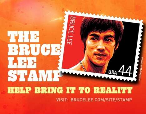 Bruce Lee postage stamp