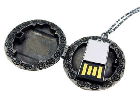 USB Lockets by Emily Rothschild