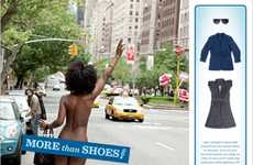 Bare Naked QR Codes - The Zappos More Than Shoes Ads Ask Viewers to Dress Models