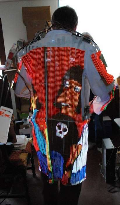 Wearable Led TVS - Dave Forbes' Video Coat Was Created for Burning Man