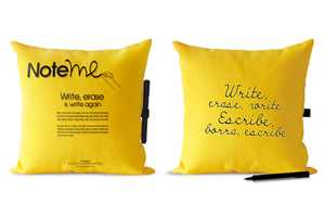 The Note Me Pillow by Margarita Mora is Customizable