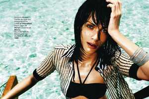 Elisa Sednaoui is Wet and Wild for Harper's Bazaar Spain July August 2011
