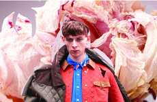 Futuristic Floral Lookbooks - The Topman 2011 FW Line Boasts Corduro & British Style