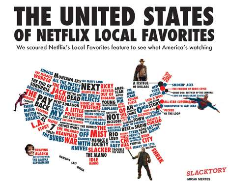 Statewide Rental Routines - This Netflix Infographic Shows What Americans Watch By State