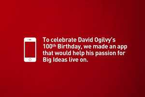 The Pitch to David Ogilvy iPhone App Searches For Big Ideas