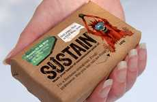 Mad Monkey Branding - Sustain Soap Packaging Features Ecstatic Endangered Species