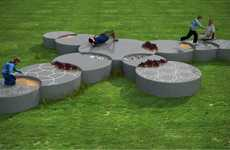 Overlapping Circular Seating - Koppla Modular Platforms Create Practical Urban Landscapes