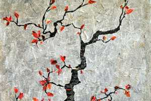 Gradification Creates This Collage of a Japanese Cherry Tree
