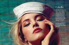 Classic Nautical Beauty - The Ashley Smith Harpers Bazaar Spread Features Rosy Looks