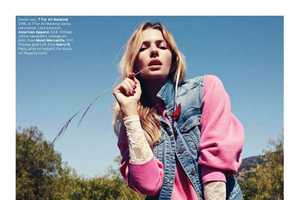 Jessica Hart is Americana Cool for ELLE US August 2011
