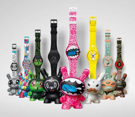 Quirky Bunny Timepieces - Kidrobot for Swatch Collection Re-Invents the Dunny Character