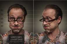 Incarcerated Portrait Photography - The Ruadh DeLone 'Usual Suspects' Series Showcases Jailbirds