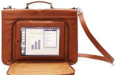 Leather Tablet Satchels - The Versetta iPad Case Puts High Fashion into Gadget Accessories