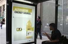 Energy-Replenishing Drinks - Vitamin Water Installs Cellphone Chargers in Billboards