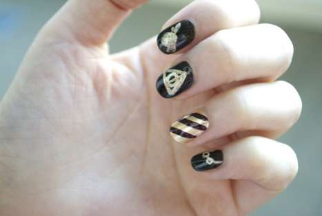 Wizard-Worthy Manicures - This Harry Potter Nail Art Pays Tribute to the Boy Who Lived