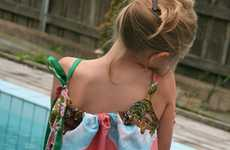 Upcycled Accessory Frocks - The Repurposed Vintage Scarf Dress is a Great Way to Recycle