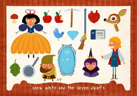 Children's Classics Paper Dolls - '12 Famous Fairy Tales in Pieces' Revisits Favs