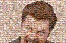 Food Pixelation Portraits - The Ron Swanson Mosaic Crafts TV Character's Face From Meals