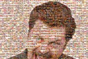 The Ron Swanson Mosaic Crafts TV Character's Face From Meals