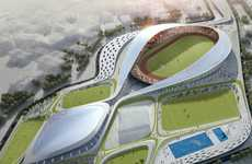 Figure Eight Football Stadiums - Athletic Ripples Sportsplex Embodies an Infinite Form