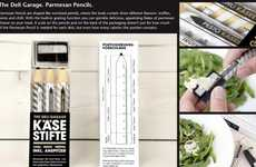 Cheesy Culinary Writing Utensils - Sharpen the Parmesan Pencil & Savor the Shavings in Pasta