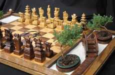 Picturesque Board Games - The Samurai Chess Set Has a Built-In Zen Garden