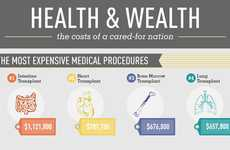 Costly Procedure Charts - This 'Health & Wealth: Healthcare in the U.S' Infographic is Alarming
