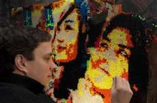 Rob Surette's World Peace Creation is the World's Largest Lite-Brite Image