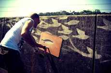 Scrubbing Stencil Grafitti