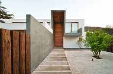 Mixed Material Homes - The 3 Element House Blends Rich Wood and Concrete Surfaces Magnificently