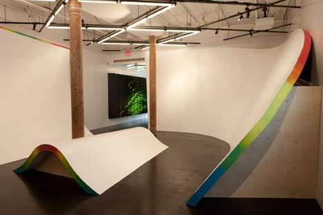 Art Museum Skate Shops - The Nike Bowery Stadium 'The Wave' Exhibit is a Surf and Skate Oasis