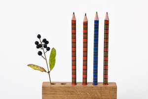 Wood Pencil Holder Will Keep Your Writing Tools Upright
