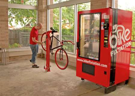 Roadside Bike Fixers - Take Care of All Your Cycling Needs With the Bicycle Repair Station