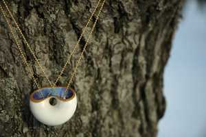 Noga Weiss Crafts a Ceramic Moon Pendant