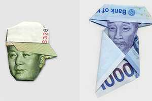 Hasegawa Yosuka Folds Famous Figures Using Paper Bills